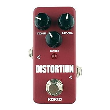 Kokko FDS2 Mini Pedal de efecto distorsión guitarra eléctrica monobloque vino rojo: Amazon.es: Instrumentos musicales
