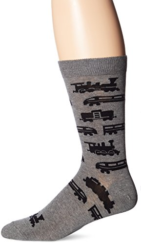 Train Apparel (K. Bell Socks Men's Crew, Trains, 10-13)