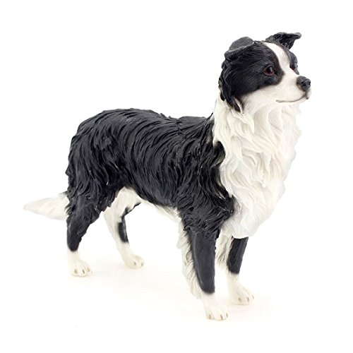 Leonardo Collection Border Collie Ornament Dog Figurine, Stone, Black by The Leonardo Collection