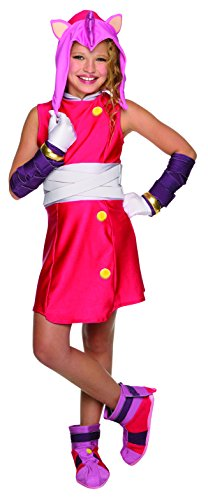 Make Sonic Hedgehog Costume (Rubie's Costume Sonic Boom Amy Child Costume, Medium)