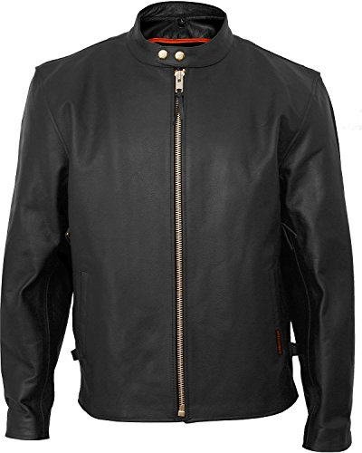 Vented Touring Jacket (Fieldsheer Interstate Leather Men's Vented Touring Jacket Big and Tall Black XXXX-Large)