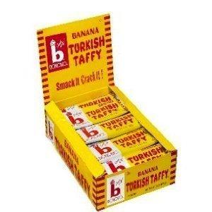 Bonomo Turkish Taffy Chocolate - Bonomo Turkish Taffy Banana Flavor (Pack of 24)