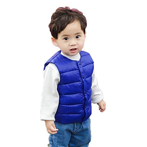Grils Boys Waistcoat Solid Striped Vest Warm Outwear Coat (Bear Grils Pants)