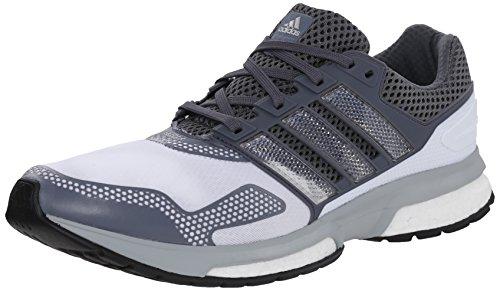 Shoes Adidas Glide Supernova (adidas Performance Men's Response Boost 2 Techfit Running Shoe, White/Grey/Grey, 7.5 M US)