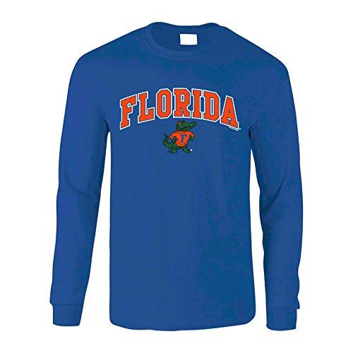 Elite Fan Shop NCAA Men's Florida Gators Long Sleeve Shirt Team Color Arch Florida Gators Royal -