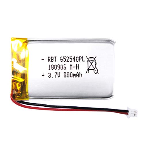 - BrightTea 3.7V 800mAh Lithium Ion Polymer Battery Rechargeable Battery Li-ion Li-Po