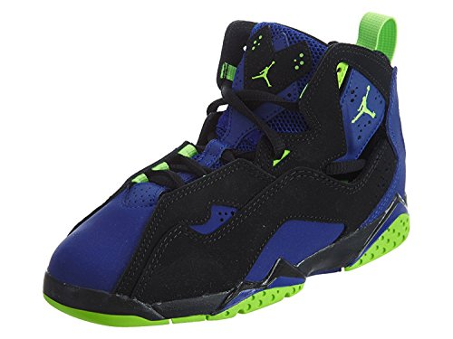 JORDAN TRUE FLIGHT BP boys basketball-shoes 343796-022_1Y - BLACK/ELECTRIC GREEN-CONCORD by Jordan