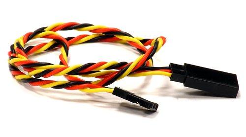 Integy RC Model Hop-ups C24415 RX-JR Type Extension 450mm 26AWG Servo Wire - Jr Racing Servos