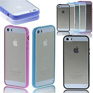 Arenaceous Tpu Back Case for iPhone 5/5S(Assorted Color) , Blue