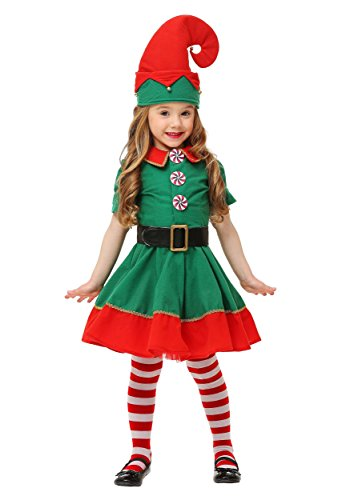 Costume De Kristoff Frozen (Toddler Holiday Elf Costume 4T)