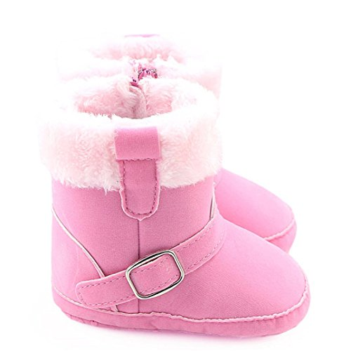 Huhu833 Kinder Mode Baby Stiefel Soft Sole, Keep Warm Schnee Stiefel, Kleinkind Stiefel Warm Schuhe (0-18 Month) Rosa