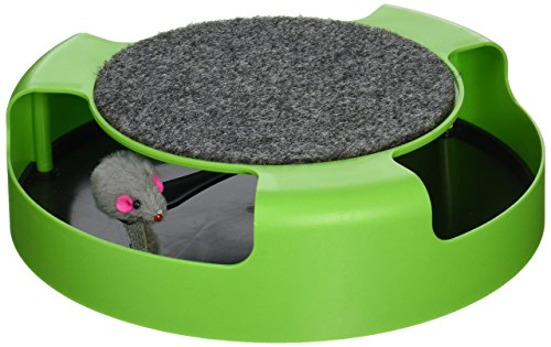 Kole KI-OC992 Cat Scratch Pad Spinning Toy with Mouse, One ()