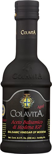 - Colavita Aged Balsamic Vinegar of Modena IGP, 3 years, 8.5 Floz, Glass Bottle