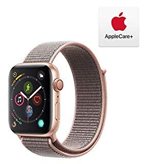 Apple Watch Series 4 (GPS + Cellular, 44mm) - Gold Aluminum Case with Pink Sand Sport Loop with AppleCare+ Bundle (B07RNSGF3K) | Amazon price tracker / tracking, Amazon price history charts, Amazon price watches, Amazon price drop alerts