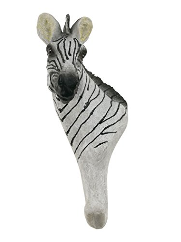 Vivid Retro Vintage Creative Three-dimensional Animal Resin Wall Mount Hanger Hat Bag Hanger Hook Cafe Bar Home Bathroom Decor (Zebra) by Winterworm
