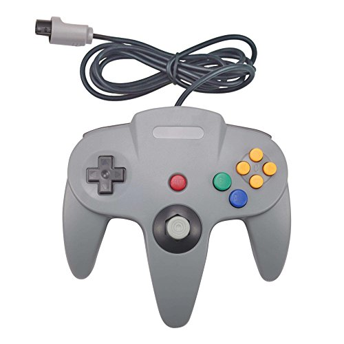 Joxde 1 Pack Upgraded Joystick Classic Wired Controller for N64 Gamepad Console (Gray)