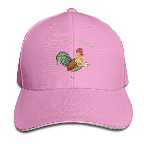 Sakanpo Rooster Toast Cap Unisex Low Profile Cotton Hat Baseball Caps Pink