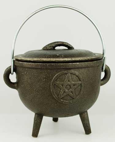 Medium Pentagram Cast Iron Cauldron ()