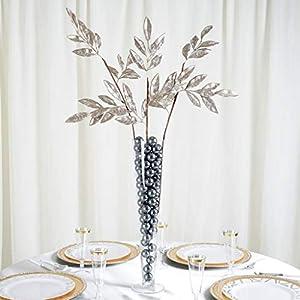 """Efavormart 2 Pack   28"""" Artificial Glittered Bay Leaf Display Filler Floral Decoration 27"""