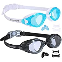 EverSport Swim Goggles, Pack of 2 Swimming Goggles, Swim...