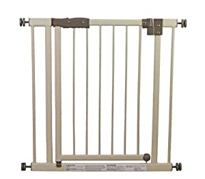 Dream On Me Deluxe Auto Close and Lock Security Gate, Ivory/Gray (Discontinued by Manufacturer)