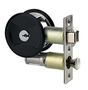 Keyed Pocket Door Lock Cl4entr Black Amazon Com