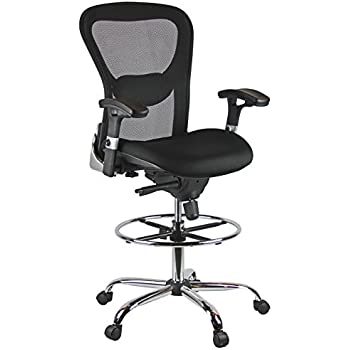 Amazoncom Harwick Deluxe Mesh Drafting Chair Office Products
