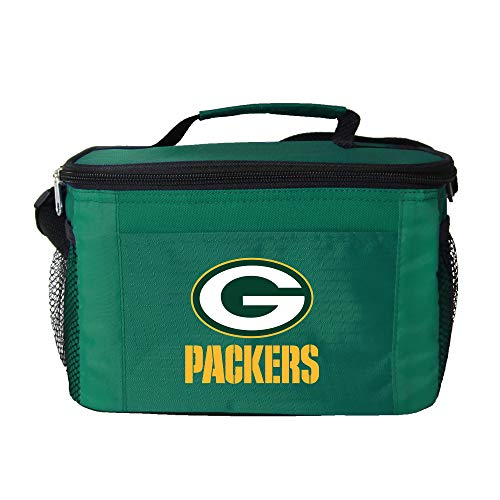 NFL Green Bay Packers Insulated Lunch Cooler Bag with Zipper Closure, Green