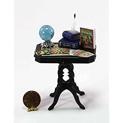 Dollhouse Miniature 1:12 Scale Fortune Tellers Table with Accessories: Toys & Games