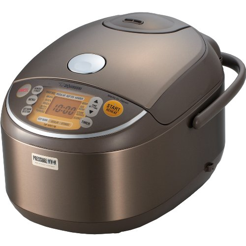 Zojirushi Induction Heating Pressure Rice Cooker & Warmer 1.8 Liter, Stainless Brown NP-NVC18