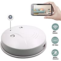 Sunsome Upgrade WiFi Hidden Spy Camera Smoke Detector,HD 1080P Nanny Cam Motion Detection Wireless Mini Video Recorder for Home Security ,Support iOS/Android/PC/Mac
