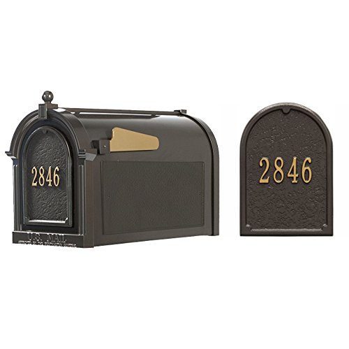 Whitehall Products16511 Superior Mailbox Package,French Bronze Door plaque by Whitehall (Image #4)