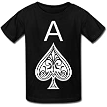 Jrw5dfg498p Ace Of Spades Teenage Round Neck T-Shirt Stamp