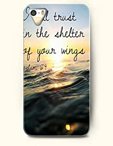 iPhone 4 4S Case OOFIT Phone Hard Case **NEW** Case with Design I Will Trust In The Shelter Of Your Wings Psalm 61:4- Bible Verses - Case for Apple iPhone 4/4s