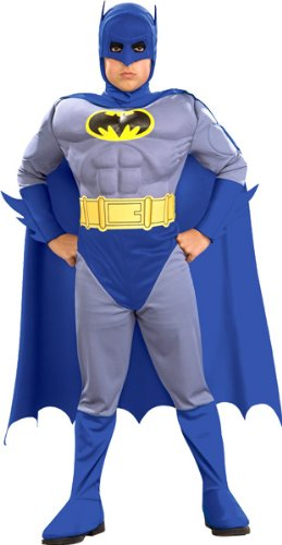 Batman The Brave and Bold Deluxe Muscle Chest Batman Child Costume Size: Large (10-12) - Batman Costume 2-3 Years