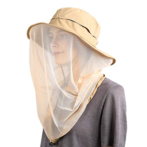 e940f137 Flammi Mosquito Head Net Hat Outdoor UPF 50+ Sun Hat with Mesh Protection  from Insect Bug Bee Gnats Bucket Boonie Hat Cap Outdoor Men/Women