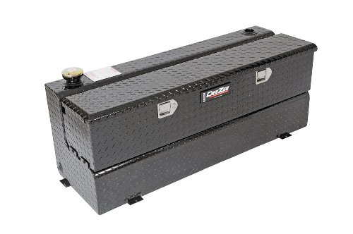 - Dee Zee DZ91740B Combo Transfer Tank and Utility Chest - Black Aluminum