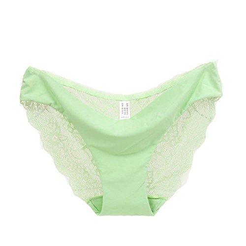 (Women Lace Low Waist Panties Seamless Cotton Panty Hollow Out Briefs Underwear (XXL, Green))