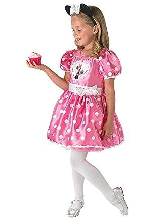 Minnie Mouse Disney Niños Disfraz Ratón Licencia Oficial Rosa M ...