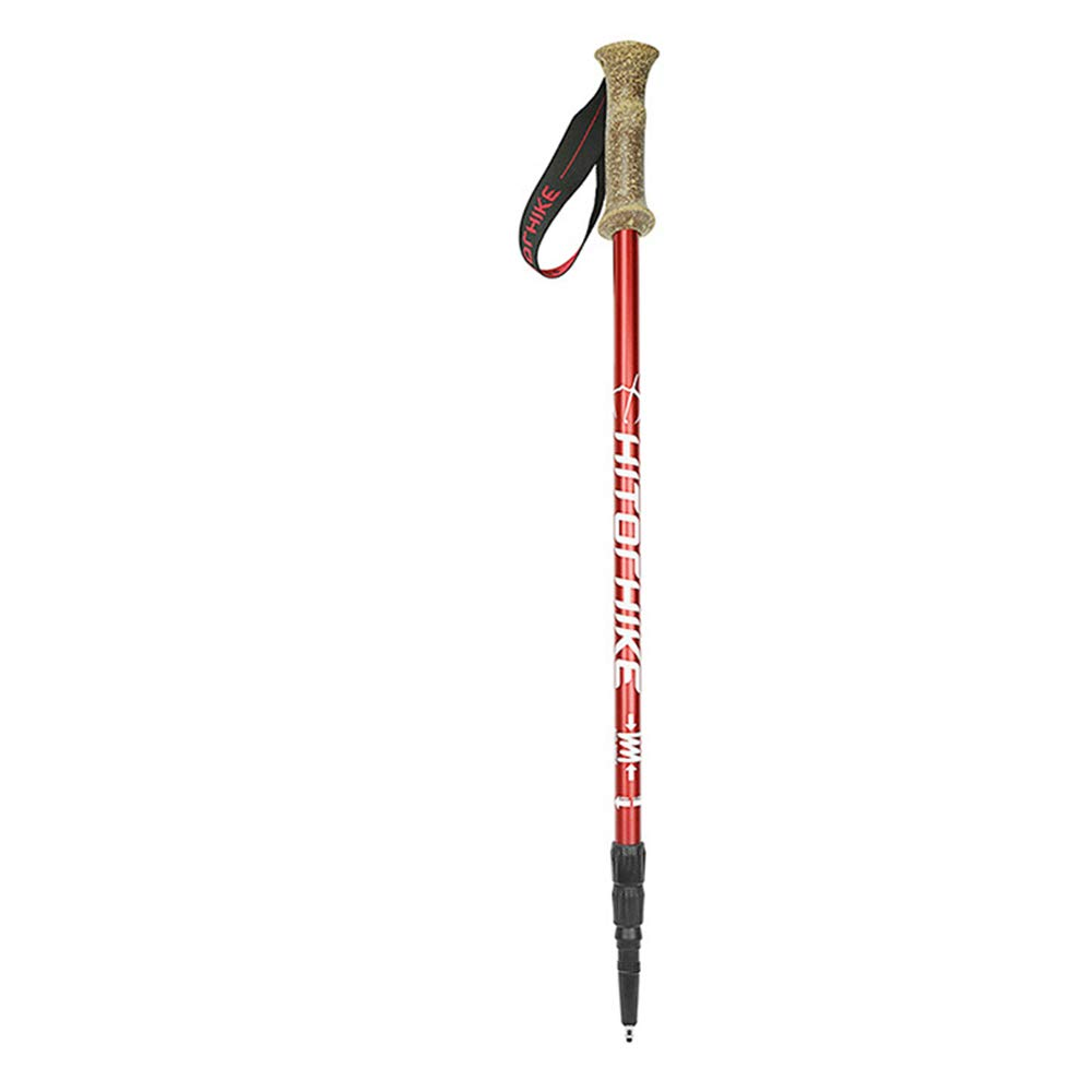 Yhjklm Einstellbarer Skistock Skistöcke Collapsible Quick Lock Trekkingstöcke Aluminium Skistöcke 66cm bis 135cm EIN Paar Einstellbare Wander- oder Spazierstöcke
