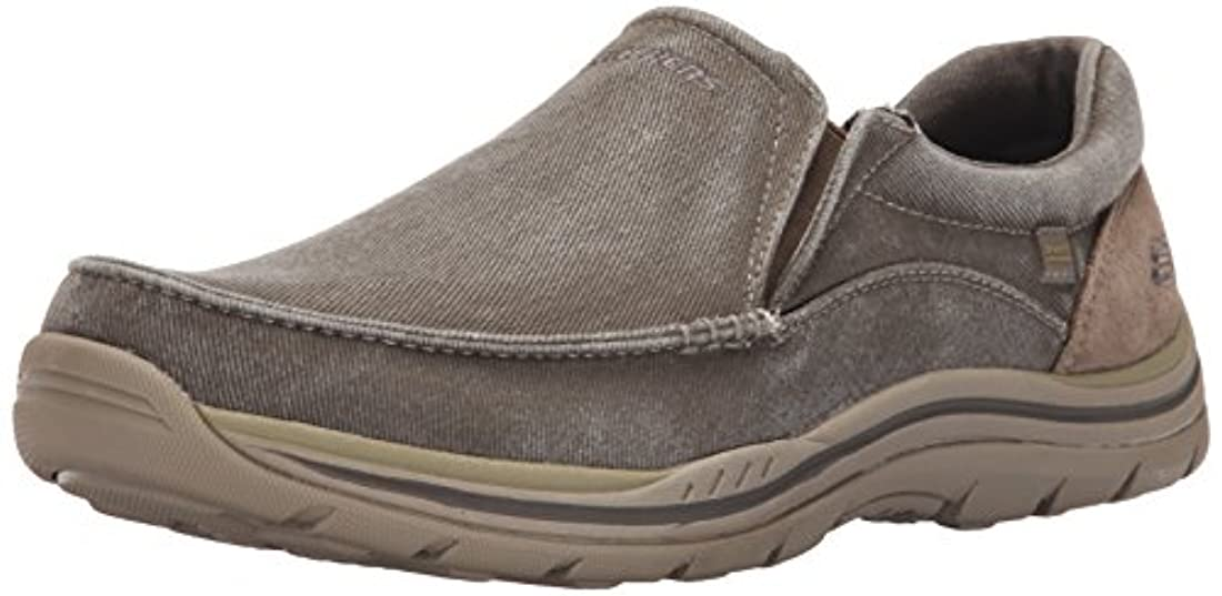 Skechers USA Men's Expected Toman Slip-on Loafer, Brown, 7.5 M US