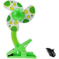 BXT Mini Safe USB Fan with Clip for Baby Crib Stroller Flexible Desk Fan