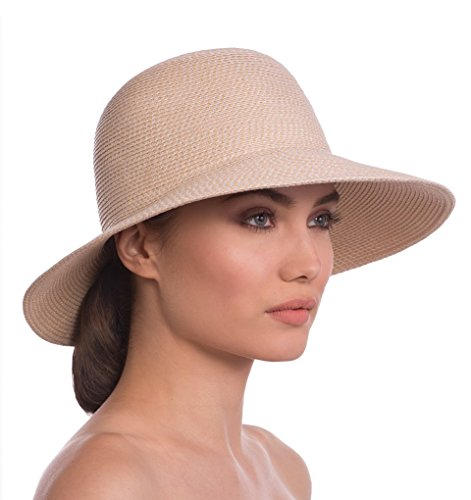 Eric Javits Luxury Designer Women's Headwear Hat - Squishee IV - Cream by Eric Javits
