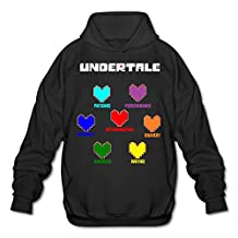 Geek Colorful Undertale Hearts Soul Men's Sweater S Black