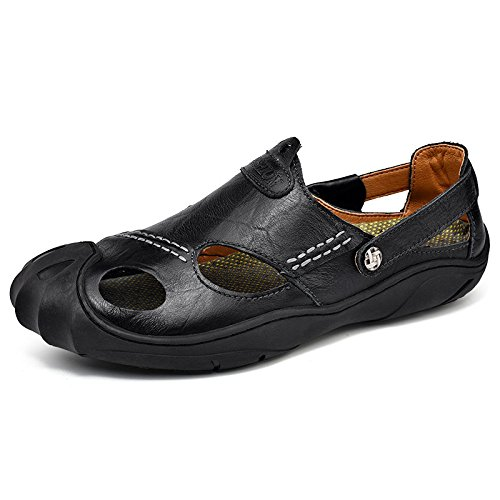 HGTYU Sandals New Styles Summer Men Sand Sandals Baotou Outdoor Breathable Shoes Black FC7iLVYCc