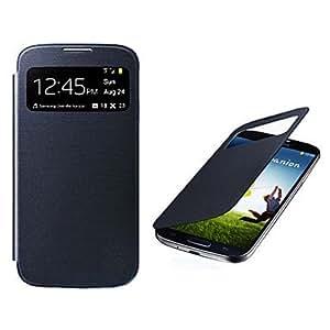conseguir Pantalla visible PU Leather Case cuerpo completo para Samsung i9500 Galaxy S4 , Azul Oscuro