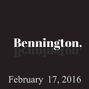 Bennington, Dave Hill, February 17, 2016 Radio/TV Program