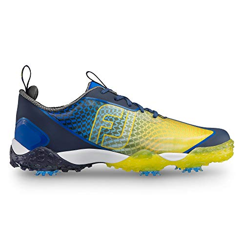 (FootJoy Men's Freestyle 2.0-Previous Season Style Golf Shoes Blue 9 M Yellow, US)