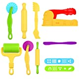 Kare & Kind® Set of 10 pcs Smart Dough Tools Kit with Extruder Machine / Dough Tools (Extruder + Dough Tools)