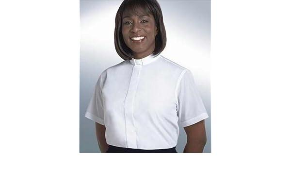 Amazon.com  Murphy Robes 42018 Clerical Shirt Women Short Sleev Tab Col  Size 18 White  Home   Kitchen 116cfaf0e